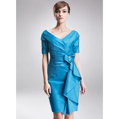 Elegant Taffeta Off-the-Shoulder Sheath/Column Mother of the Bride Dresses