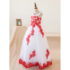 champagne lace flower girl dresses for wedding