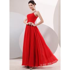 Princess One-Shoulder A-Line/Princess Chiffon Evening Dresses (017014052)