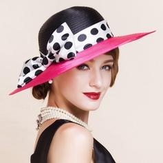 Polyester med Bowknot Stiv / Cloche Hatt Mote Damene ' Hatter