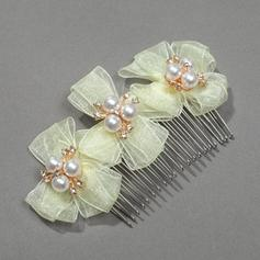 "Combs & Barrettes Wedding/Special Occasion/Party Ribbon 3.15""(Approx.8cm) 1.97""(Approx.5cm) Headpieces"