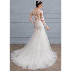 Corte trompeta/sirena - Tul Encaje Vestidos de novia (002111940)