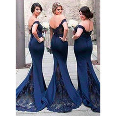 silver lace bridesmaid dresses