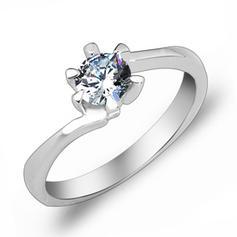 Rings Zircon/Platinum Plated Ladies' Elegant Wedding & Party Jewelry