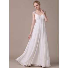 longitud del té más vestidos de novia de tamaño