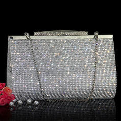 Clutches/Wristlets Wedding Crystal/ Rhinestone Clip Closure Charming Clutches & Evening Bags