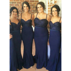 Beading Sweetheart With Chic Stretch Crepe Bridesmaid Dresses (007211685)