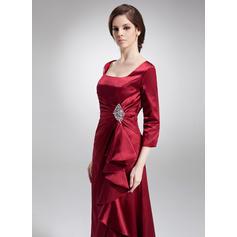 Vestidos princesa/ Formato A Decote quadrado Charmeuse Moderno Vestidos para a mãe da noiva (008213093)