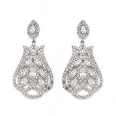 Earrings Zircon Pierced Ladies' Gorgeous Wedding & Party Jewelry