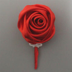 """Boutonniere Free-Form Wedding/Party/Casual Satin 4.72""""(Approx.12cm) Wedding Flowers"""