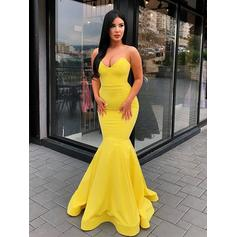 Sexy Jersey Prom Dresses Trumpet/Mermaid Floor-Length Sweetheart Sleeveless (018218089)