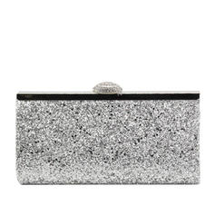 Clutches/Luxury Clutches Wedding/Ceremony & Party/Casual & Shopping/Office & Career Sparkling Glitter Magnetic Closure Elegant Clutches & Evening Bags