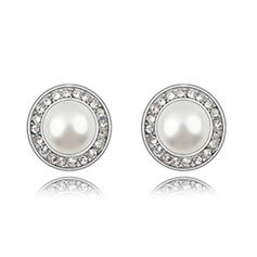 Earrings Alloy/Pearl Rhinestone Pierced Ladies' Wedding & Party Jewelry