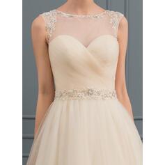 manga longa vestidos de noiva estilo sereia