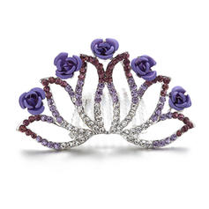 Pretty Crystal/Alloy Flower Girl's Headwear
