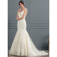 modestos simples flowy vestidos de noiva elegantes