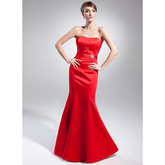Trumpet/Mermaid Satin Sweetheart Sleeveless Evening Dresses (017015002)