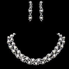 Smykker Sett Legering/Rhinestones Perle Hummer Låsen Med ørebøyle Bryllup- & Festsmykker