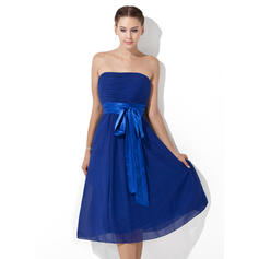 Empire Knee-Length Chiffon General Plus Bridesmaid Dresses
