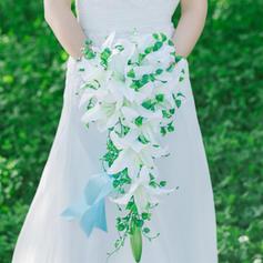"Bridal Bouquets Cascade Wedding Artificial Silk 9.84""(Approx.25cm) Wedding Flowers"