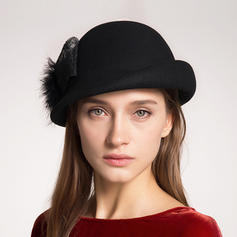 Wool With Silk Flower Beret Hat Elegant 55-57 Hats
