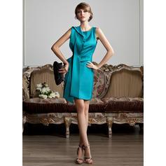 Halagador Escote redondo Vestido tubo Satén Vestidos de madrina (008211345)
