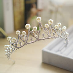 "Tiaras Wedding Alloy/Imitation Pearls 10.63""(Approx.27cm) 1.77""(Approx.4.5cm) Headpieces"