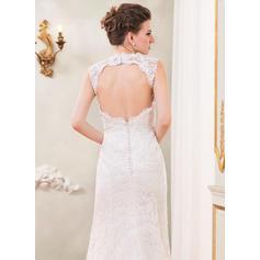 50's style lace wedding dresses