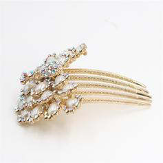 Maravilloso Rhinestone/La perla de faux Peines y pasador