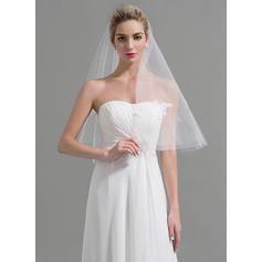 Waltz Bridal Veils Tulle One-tier Classic With Cut Edge Wedding Veils