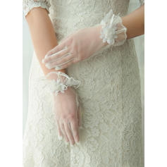 Tulle Ladies' Gloves Wrist Length Bridal Gloves Fingertips Gloves