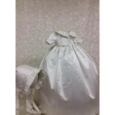 Satiné Col claudine Robes de baptême bébé fille avec 1/2 manches (2001217419)