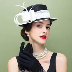 Net Yarn With Feather Fascinators Vintage Ladies' Hats