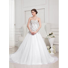 Fashion General Plus Sweetheart Ball Gown Tulle Wedding Dresses 002196876