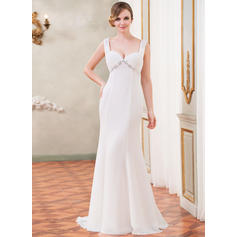 Magnificent Sleeveless Sweetheart With Chiffon Wedding Dresses (002210555)