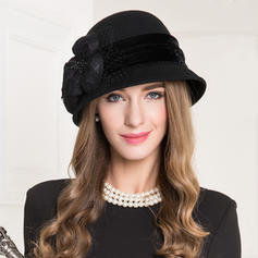 Wool With Tulle Bowler/Cloche Hat Vintage Ladies' Hats