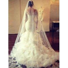 plus storlek korsett bröllopsklänningar