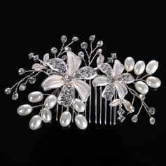 Señoras Elegante Aleación/La perla de faux Peines y pasador