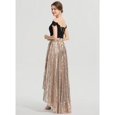 robes de bal de sirène marron