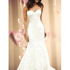 Sleeveless Sweetheart With Lace Wedding Dresses (002218630)