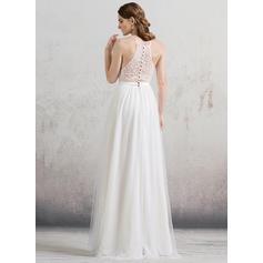 knee length chiffon wedding dresses
