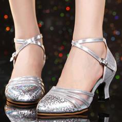 Femmes Salle de bal Talons Similicuir Chaussures de danse