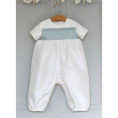 Satiné Col rond Tenues de baptême bébé garçon avec Manches courtes (2001217995)