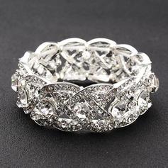 "Bracelets Alloy/Rhinestones Ladies' Unique 0.98""(Approx.2.5cm) Wedding & Party Jewelry"