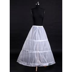 Bustle Tea-length Tulle Netting/Satin A-Line Slip 1 Tiers Petticoats