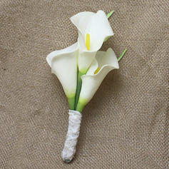 "Boutonniere Wedding PE/Lace 3.54"" (Approx.9cm) The color of embellishments are shown as picture/Color & Style representation may vary by monitor Wedding Flowers"