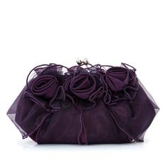 Clutches Ceremony & Party Satin/Tulle Kiss lock closure Gorgeous Clutches & Evening Bags