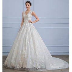 satin wedding dresses with pockets