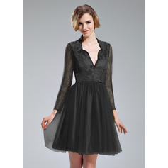 short black cocktail dresses plus size