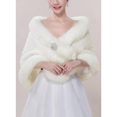 Wrap Fashion Faux Fur Acrylic Other Colors Wraps